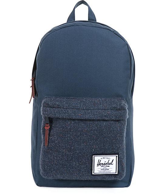 8557a12b74ea Herschel Supply Co. Navy Blue Knit Woodside Backpack