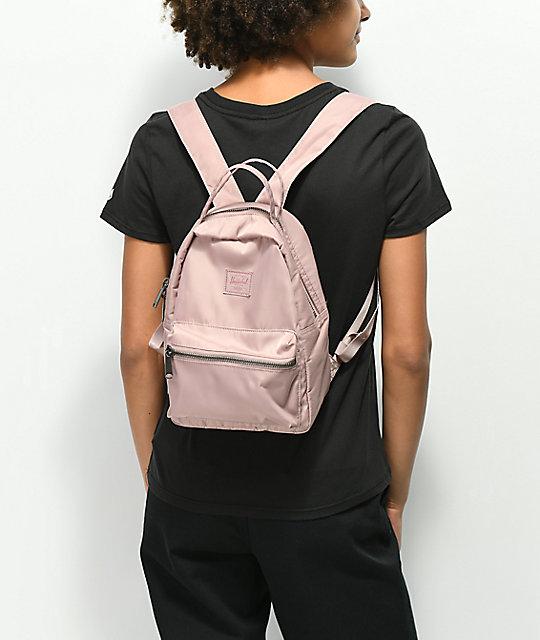 Nova Ash Rose Satin Mini Backpack  Herschel Supply Co. Nova Ash Rose Satin Mini  Backpack ... 035787bd6a436