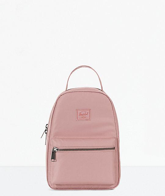 Herschel Supply Co. Nova Ash Rose Satin Mini Backpack  5fcf523654044