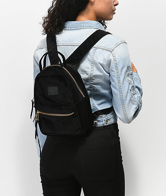 Nova Corduroy Black Mini Backpack  Herschel Supply Co. Nova Corduroy Black Mini  Backpack ... bac92ce5b8966
