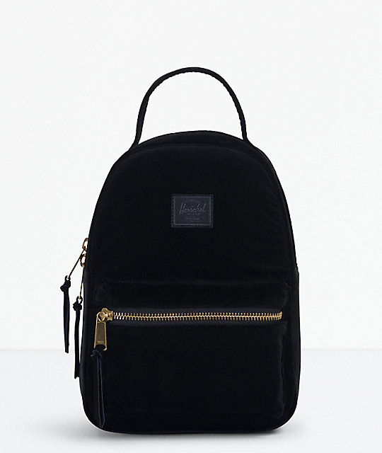 68d8797c2bf Herschel Supply Co. Nova Corduroy Black Mini Backpack