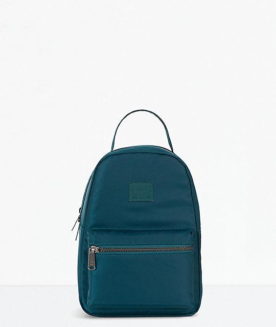 Herschel Supply Co. Nova Deep Teal Satin Mini Backpack  24bdb132a162b