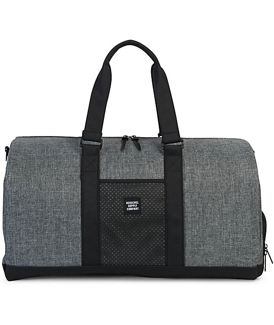 Herschel Supply Co Novel Aspect Raven Crosshatch Duffle Bag