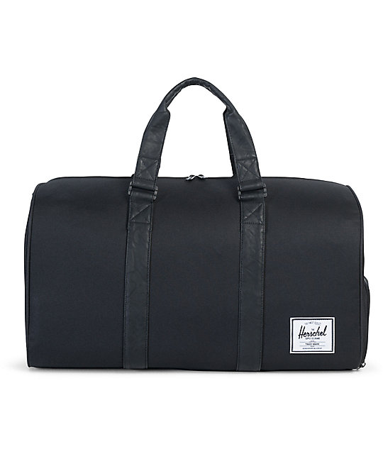 Herschel Supply Co. Novel Black & Black Synthetic Leather 42.5L Duffel Bag