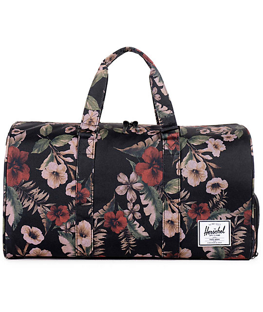 Herschel Supply Co. Novel Black   Hawaiian Camo 42.5L Duffle Bag ... 09923e5e11527