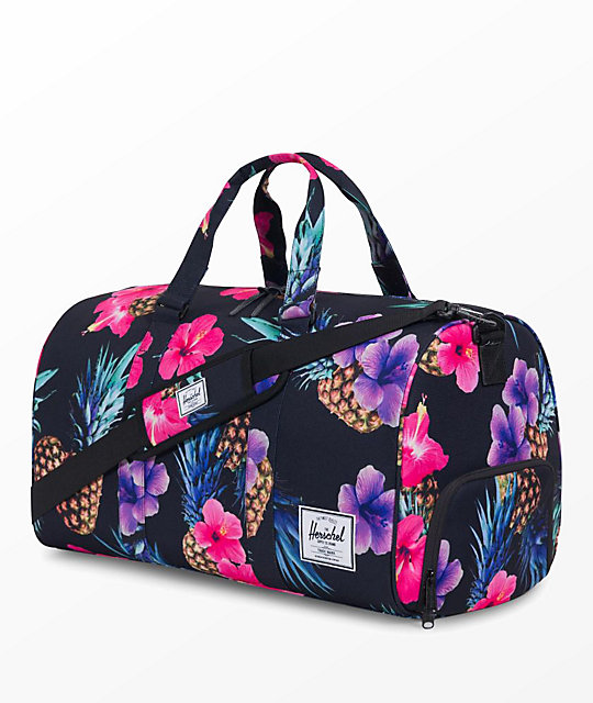 Herschel Supply Co. Novel Black Pineapple 42.5L Duffle Bag