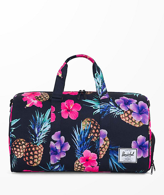 Herschel Supply Co. Novel Black Pineapple 42.5L Duffle Bag  426cb9a9960ee