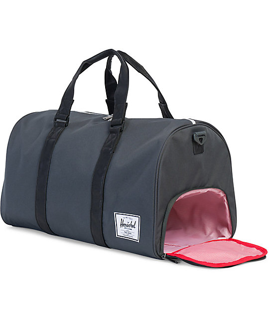 Herschel Supply Co. Novel Dark Shadow Black 42.5L Duffle Bag