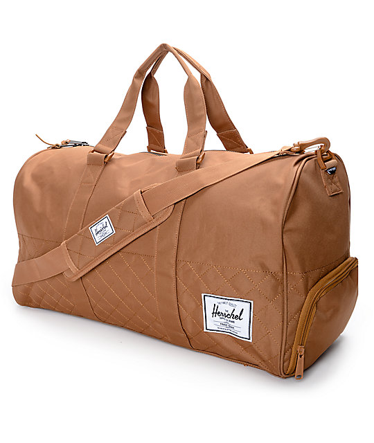 Herschel Supply Co Novel Quilted Caramel 42 5l Duffle Bag