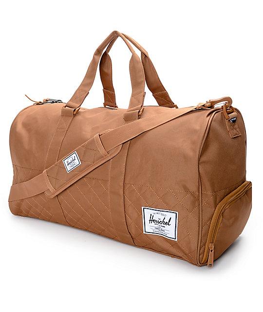 0409be6bcb Herschel Supply Co. Novel Quilted Caramel 42.5L Duffle Bag