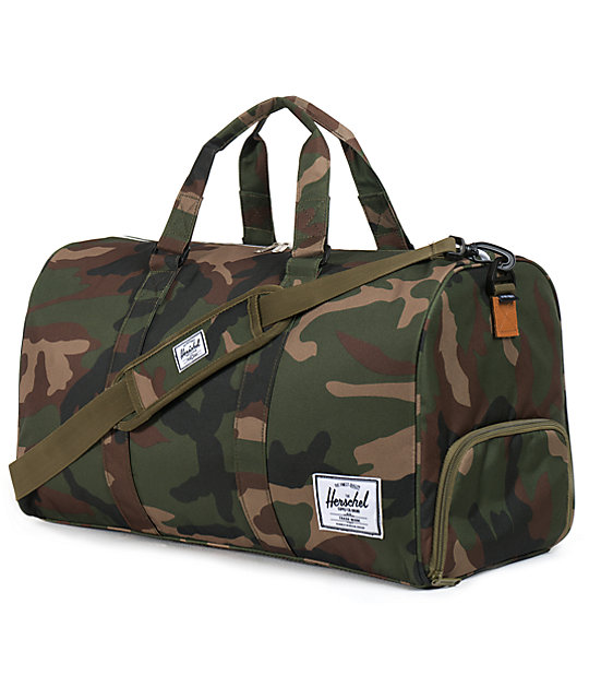 Herschel Supply Co Novel Woodland Camo Duffle Bag