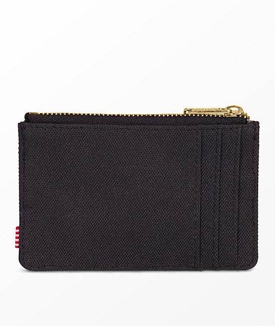 Herschel Supply Co. Oscar Black Zip Cardholder Wallet