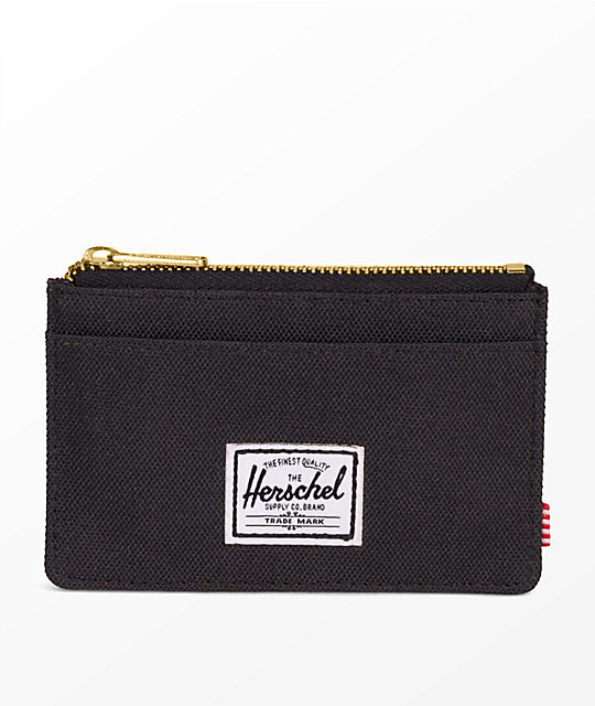 Herschel Supply Co. Oscar cartera negra con cremallera