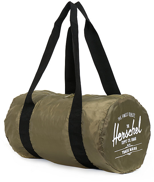 d0cd2388bf3a Herschel Supply Co. Packable Army Green Duffel Bag