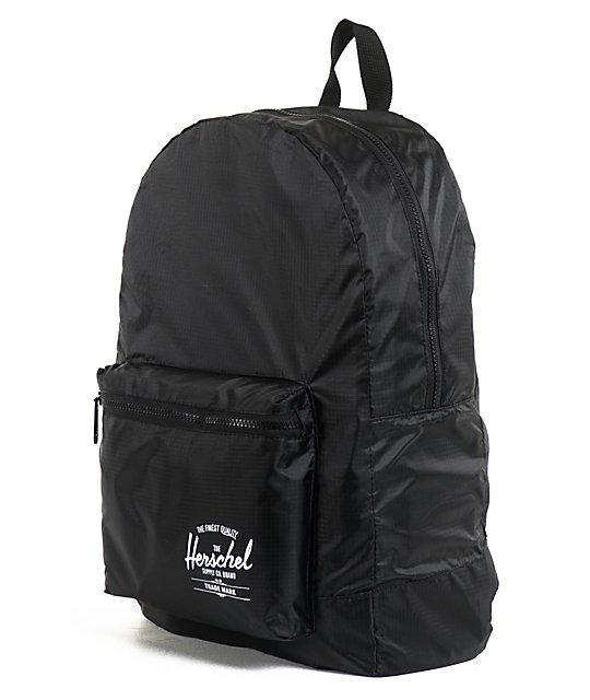 c8c486cb2cc Herschel Supply Co. Packable Daypack Black Backpack