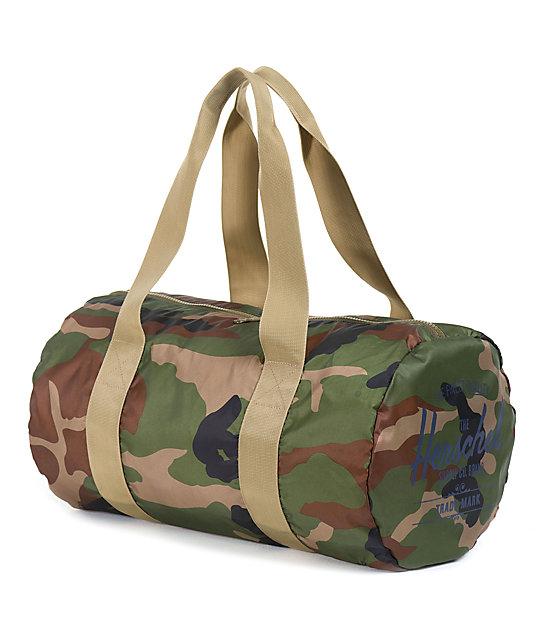 aa62cc1ff6e4 Herschel Supply Co. Packable Woodland Camo   Khaki 22L Duffle Bag ...