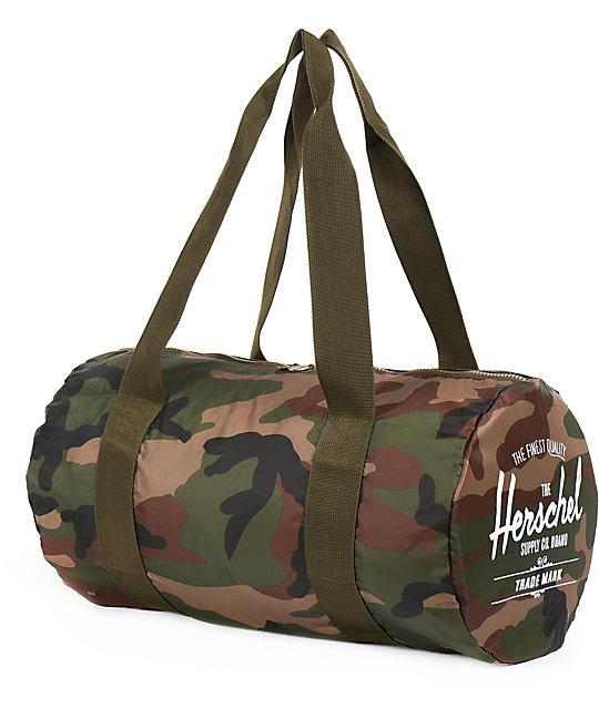 c33003d9c543 Herschel Supply Co. Packable Woodland Camo Duffel Bag