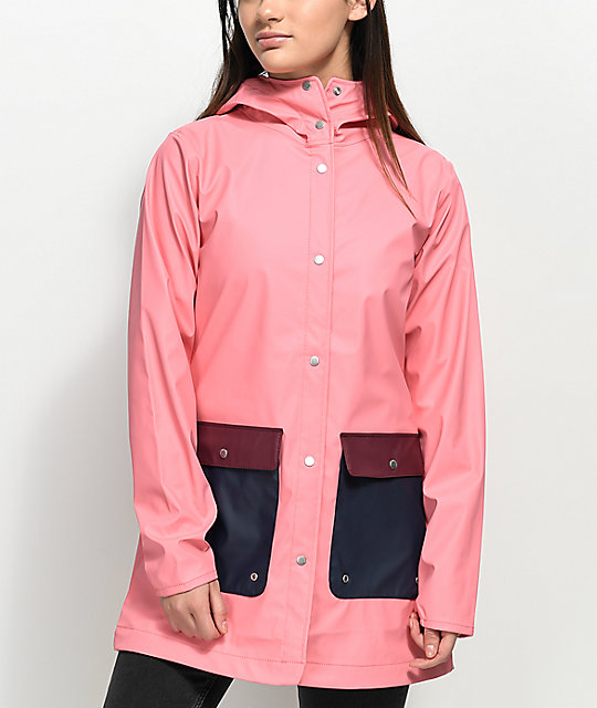Herschel Supply Co. Pink & Navy Rain Parka