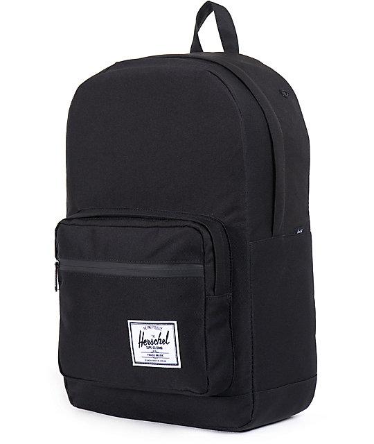 b36a34a7da6a Herschel Supply Co. Pop Quiz All Black 20L Backpack   Zumiez