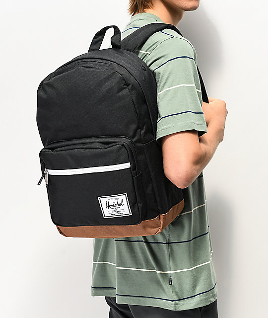 Herschel Supply Co. Pop Quiz Black & Saddle mochila