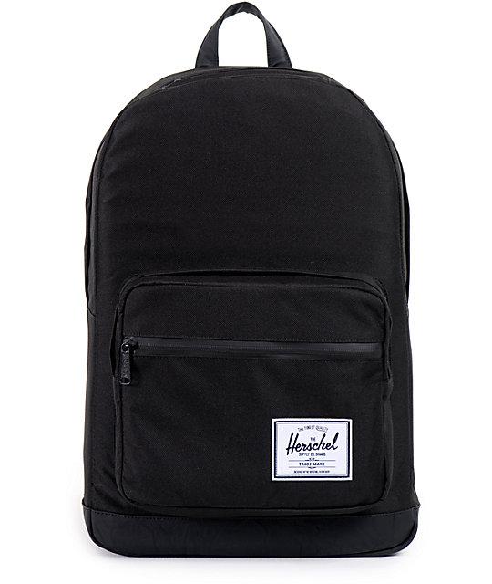 55f4170484f Herschel Supply Co. Pop Quiz Black Faux Leather 20L Backpack   Zumiez
