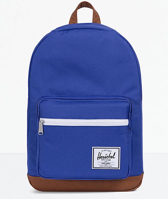 Herschel Supply Co. Pop Quiz Marine Blue   Tan Backpack  a1fefb65da97b