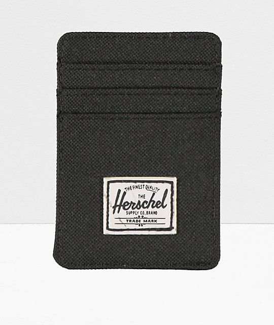 Herschel Supply Co. Raven Black Cardholder Moneyclip Wallet