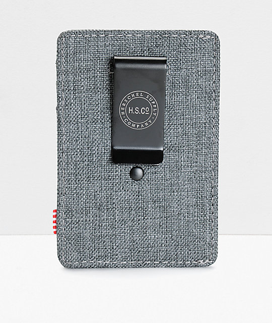 Herschel Supply Co. Raven Crosshatch Cardholder Moneyclip Wallet