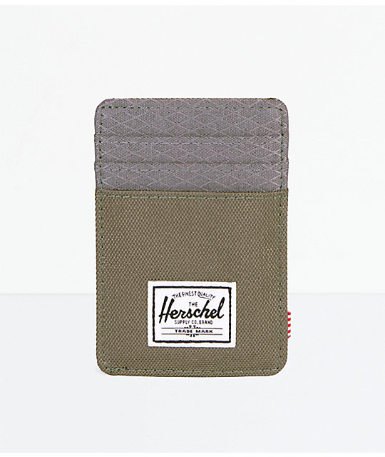 7e3c3cf949 Herschel Supply Co. Raven Ivy Green   Smoked Pearl Cardholder Wallet ...