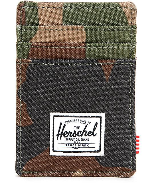 e1af665767c Herschel Supply Co. Raven Woodland Camo Cardholder Wallet