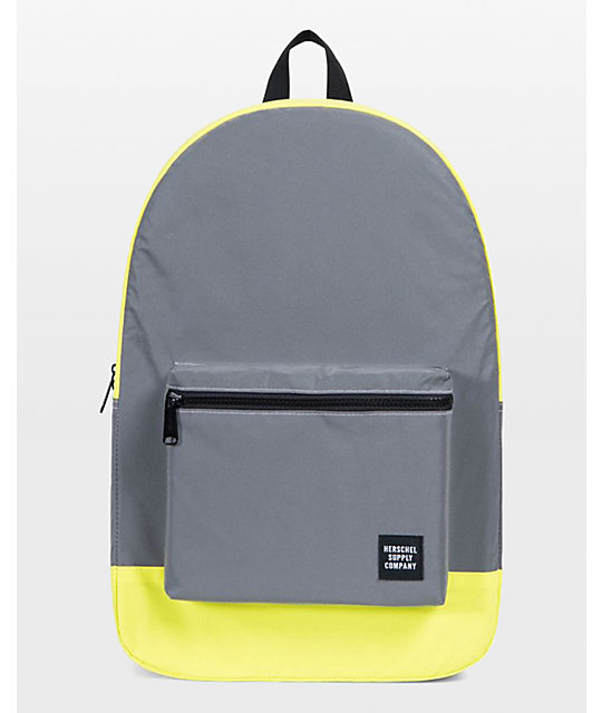 Herschel Supply Co. Reflective Packable Daypack Neon Yellow 24.5L Backpack   21da05e2d8ee4