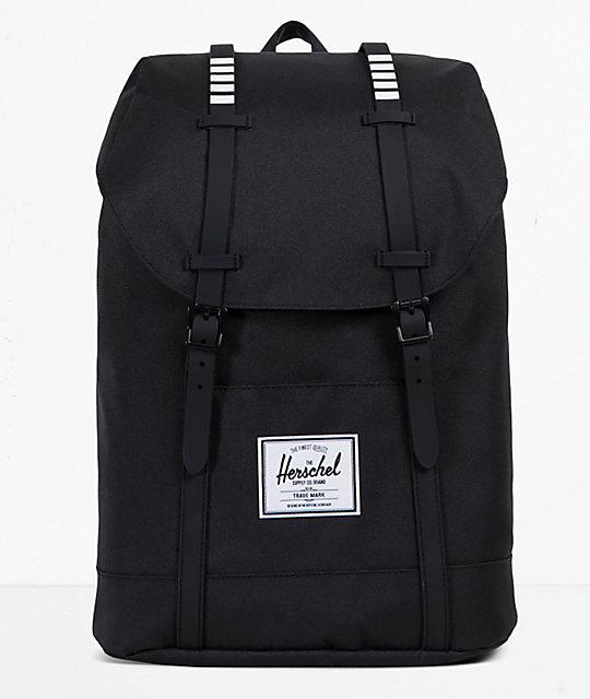 najbardziej popularny Gdzie mogę kupić szczegółowe obrazy Herschel Supply Co. Retreat Black & White 19.5L Backpack