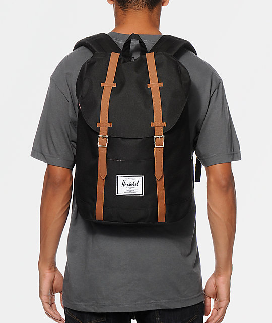 Retreat Black Backpack  Herschel Supply Co. Retreat Black Backpack ... 5d9cf0eb5c