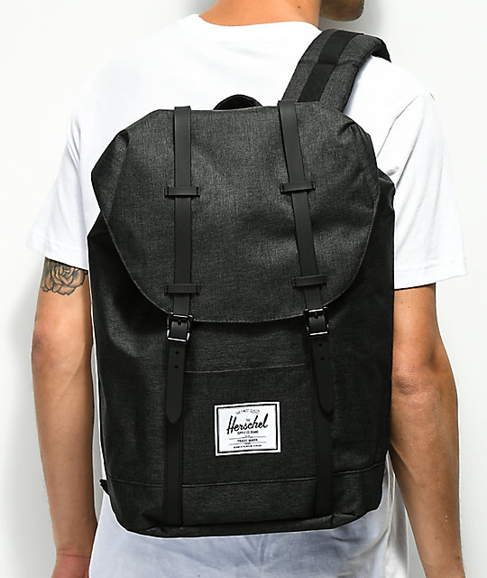 Herschel Supply Co. Retreat Black Crosshatch Backpack