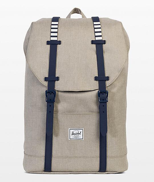 64f1ce48680 Herschel Supply Co. Retreat Mid Khaki Crosshatch 14L Backpack