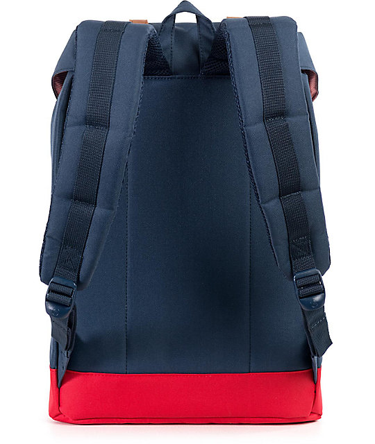 08985db35d7 Herschel Supply Co. Retreat Navy & Red 19.5L Backpack | Zumiez