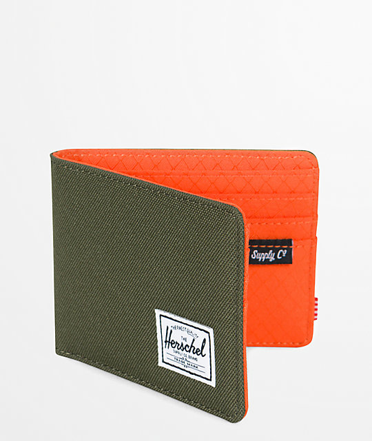 Herschel Supply Co. Roy Forest Night & Orange Bifold Wallet