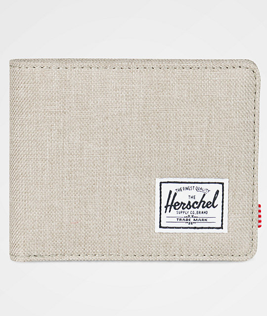 Herschel Supply Co. Roy Light Khaki Crosshatch Bifold Wallet