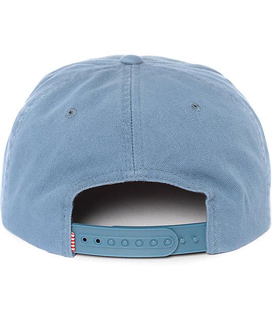 537f82ebe3c Scope Washed Pale Indigo Snapback Hat  Herschel Supply Co. Scope Washed  Pale Indigo Snapback Hat