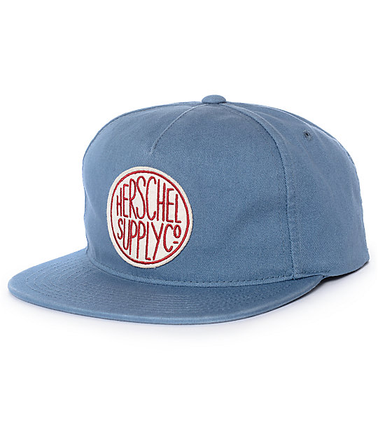 b51dca031b1 Herschel Supply Co. Scope Washed Pale Indigo Snapback Hat