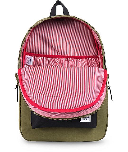 d2fff1a1fec Settlement Army Green   Black Backpack  Herschel Supply Co. Settlement Army  Green   Black Backpack
