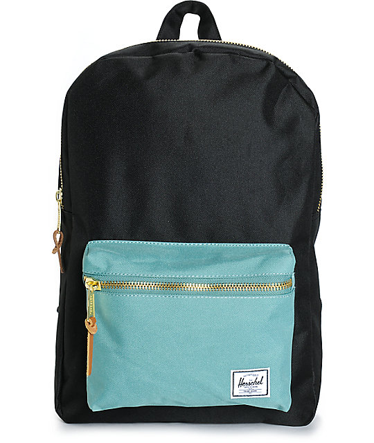 03570fc57ea Herschel Supply Co. Settlement Black   Seafoam 17L Backpack