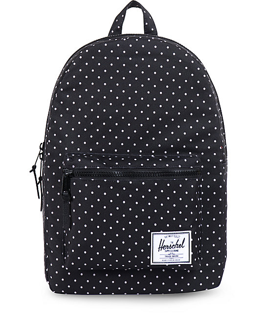 dae5c2f83160 Herschel Supply Co Settlement Black White Polka Dot Backpack Zumiez
