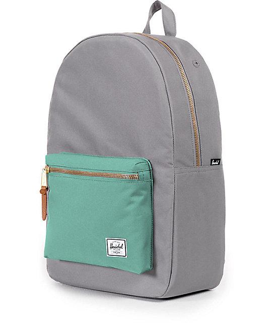 Settlement Grey   Seafoam 17L Backpack  Herschel Supply Co. Settlement Grey    Seafoam 17L Backpack ... 8addc5ef3149c