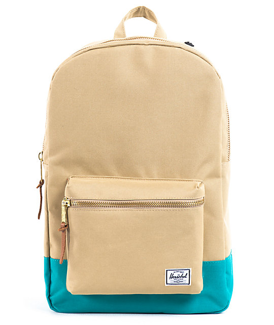 Herschel Supply Co. Settlement Khaki & Teal Backpack
