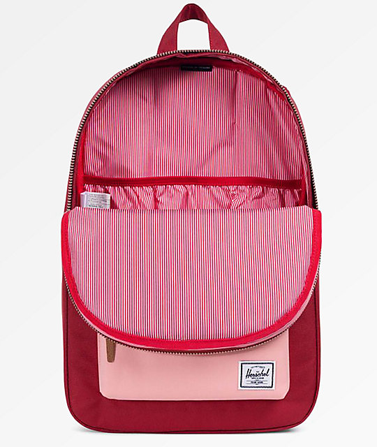 Herschel Supply Co. Settlement Mid Brick Red & Peach Backpack