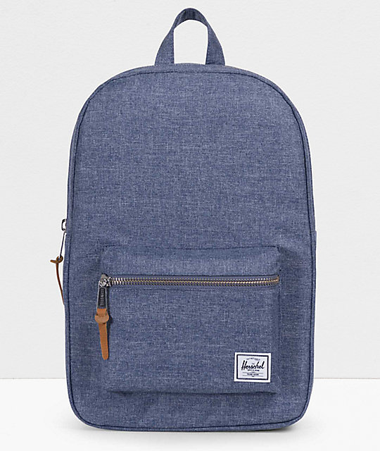 Herschel Supply Co. Settlement Mid Dark Chambray 17L Backpack   Zumiez 62e2385d0f