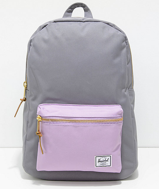 Herschel Supply Co. Settlement Mid Grey & Lavender 17L Backpack