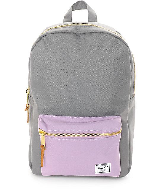 Herschel Supply Co Settlement Backpack: Herschel Supply Co. Settlement Mid Lavender & Grey 17L