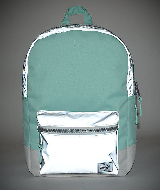 fc18c0d2c26 Settlement Mid Lucite Green Reflective 17L Backpack  Herschel Supply Co.  Settlement Mid Lucite Green Reflective 17L Backpack ...